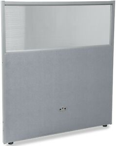 47 H X 37 W Poly Panel W translucent Tops Gray Vinyl Partition Panels