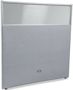 63 H X 61 W Poly Panel W translucent Tops Gray Vinyl Partition Panels