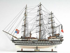 Amerigo Vespucci Italian Tall Ship 36 Built Wooden Model Sailboat Assembled