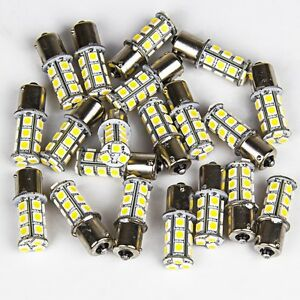 20x Xenon White Rv Camper 1156 1141 1003 Ba15s 18 Led Light Bulbs Backup Reverse