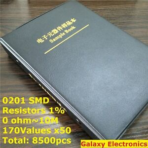 0201 1 Smd Smt Chip Resistors Assortment Kit 170values X50 Assorted Sample Book