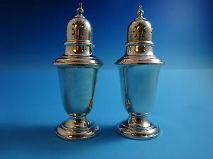 Antique Gorham Sterling Silver Salt And Pepper Shakers 4 1 4 High 2725