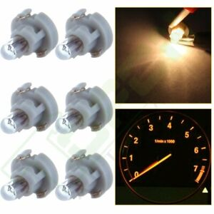 6x T3 Neo Wedge Dash A C Climate Heater Control Light Halogen Bulbs Warm White