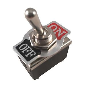 Metal Rocker Toggle Switch Heavy Duty 4 Pin Dpst On off 2 Position Dash Car Boat