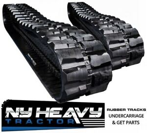 Two Ny Heavy Rubber Tracks Fits Cat 307b 450x71x82 Caterpillar Excavator 18