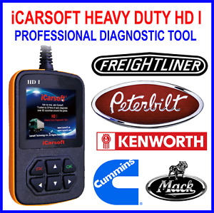 Icarsoft Heavy Duty Hd I Diagnostic Scanner For Peterbilt Cummins Mack And More