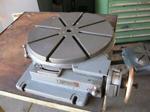Hauser 12 Low Profile Precision Rotary Table Swiss Made Jig Boring Grinding