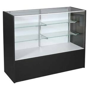New Or Retails Black 70 Full Vision Display Case With Light
