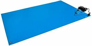 Anti Static Mat Kit With A Wrist Strap And A Grounding Cord 18 Wide X 24 Long