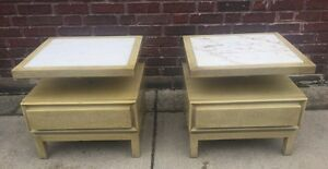Vintage Pair Of Mid Century American Of Martinsville Nightstands End Tables