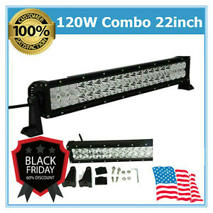 120w 21 Inch Cree Led Light Bar Spot Flood Driving Lamp Offroad Boat 4wd Lamp