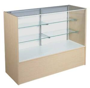 New Or Retails Economy Maple 70 Inch Full Vision Display Case