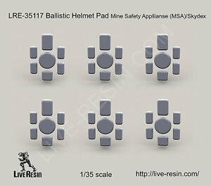 Live Resin 1:35 Ballistic Helmet Pad Mine Safety Appllianse MSASkyde LRE35117*
