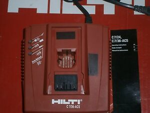 Hilti 7 36 Charger For 36v Batteries used