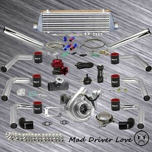 V band T3 t4 63 A r Turbo Charger Intercooler 2 5 8pc Piping Kit Universal