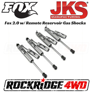 Fox 2 0 Reservoir Shocks For 07 18 Jeep Wrangler Jk W 2 5 3 5 Lift By Jks