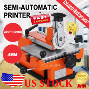 Ly 360 Semi automatic Sheet Metal Stamping Printer Mark Printing Machine Usa