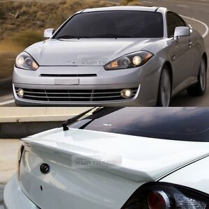 Rear Trunk Wing Lip Spoiler Unpainted For Hyundai 2003 2008 Tuscani Tiburon