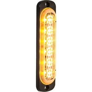 Buyers 6 Led Amber Vertical Low Profile Strobe Light Surface Mount 8891910
