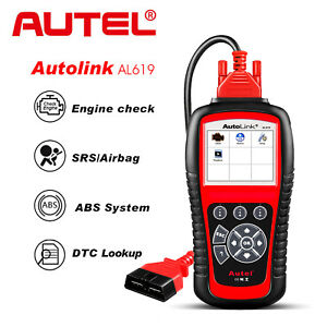 Autel Autolink Al619 Obd2 Can Diagnostic Tool Code Reader Scanner Abs Airbag