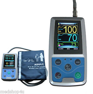 24h Nibp Holter Ambulatory Blood Pressure Monitor Abpm50 spo2 Oximeter Usa Fda
