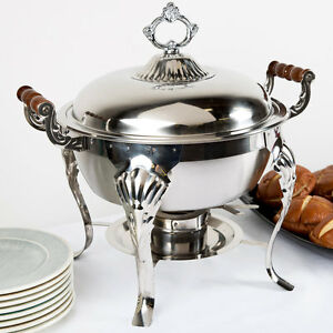 Chefs Chafer 5 Qt Round Cater Food Bon Pan Buffets Weddings Elegant Display