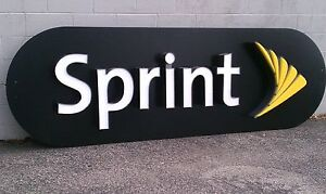 Lighted Sprint Logo Sign Authorized Retailer Channel Letters On Raceway