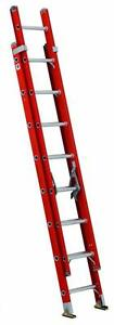 Louisville Ladder Fe3216 16 Ft Fiberglass Multi section Extension Ladder