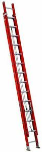 Louisville Ladder Fe3228 28 Ft Fiberglass Multi section Extension Ladder