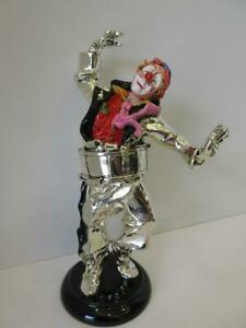 Italian Silver Plated Handcrafted Painted Detailed Dancing Clown Figurine Ma 624