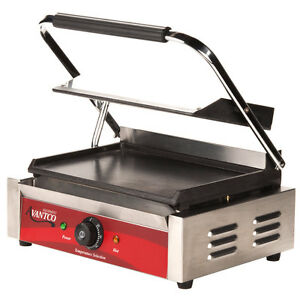 Smooth Top Bottom Electric Commercial Restaurant Panini Sandwich Grill Press