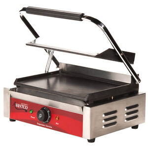 Smooth Top Bottom Electric Commercial Restaurant Panini Sandwich Grill 120v