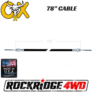 78 Ox Locker Cable Assembly W Jamb Nut For Jeep Ford Chevy Gmc Differential