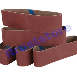 5PC 3 x 18 INCH WOOD SANDING SANDPAPER CLOTH BELT SANDER ALUMINUM OXIDE 120 GRIT