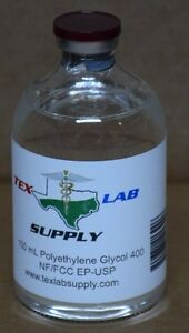 Tex Lab Supply Polyethylene Glycol 400 peg 400 Nf fcc ep usp 100 Ml