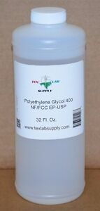 Tex Lab Supply Polyethylene Glycol 400 peg 400 Nf fcc ep usp 32 Fl Oz