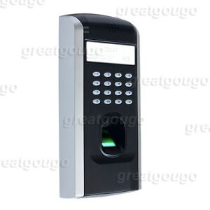 Biometric Fingerprint Time Clock Attendance Recorder System door Access Control