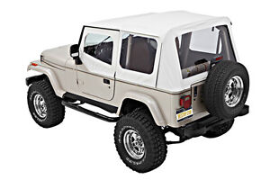 Bestop 1987 1995 Jeep Wrangler Yj White Denim Replacement Soft Top 55820 52