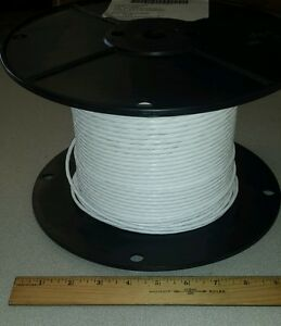 25 Ft Mil spec M27500 b20we5g24 white 20awg Electrical Power Cable 5 c 19 c