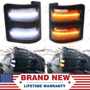 Smoked Lens Usa Led Side Mirror Marker Lights For 2008 16 F250 F350 F450
