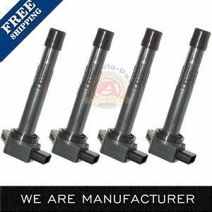Pack Of 4 Premium Ignition Coils For 2002 2006 Honda 2 4l 2 0l C1382 Uf311
