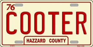 Cooter Metal Novelty License Plate Tag