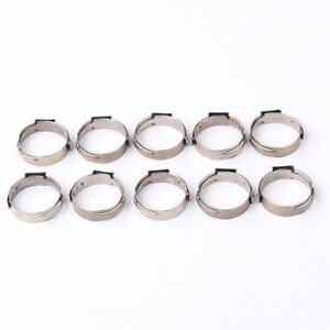 100pcs 1 2 Pex 17 5mm Stainless Steel Clamp Cinch Rings Crimp Pinch Fitting