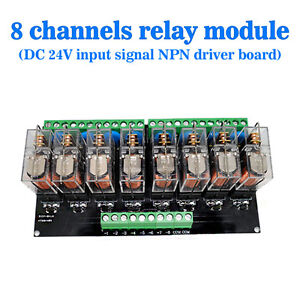 Omron 8 Relay Module Eight Panels Driver Board Module Dc 24v Npn