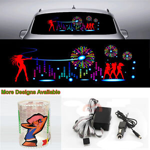 Dj Stage Music Rhythm Car Sticker Flash Light Sound Activated Equalizer 90 25cm