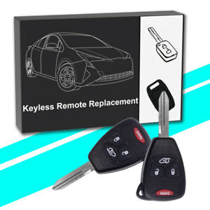2x New Uncut Keyless Entry Remote Key Fob For Chrysler Jeep M3n5wy72xx