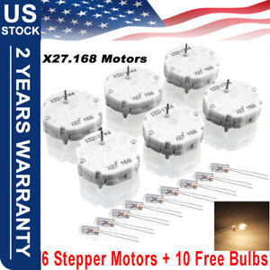 6pcs Gm Gmc Stepper Motor Speedometer Gauge Repair Kit Cluster 10 Bulbs X27 168