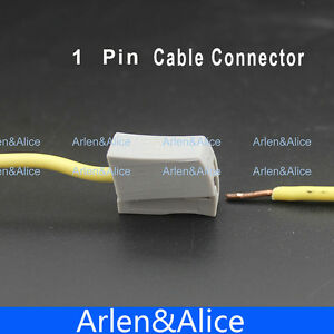 100pcs Single 1 Pin Cable Wire Wiring Connecting Connector For Lamp