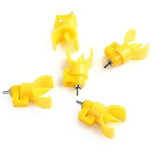 5 Pcs Chicken Nipple Water Drinker Waterer Poultry Feeder Chicken Duck Hen Bird