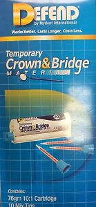 Defend Temporary Crown And Bridge Material With 10 Mixing Tips Shade A1